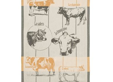 Tea towel - Races Bovines / Tea towel - COUCKE
