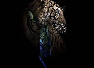 Scarves - ORIENT 90 - square/scarf printed 100% silk twill - 90 x 90 cm - French roll - Maison Fétiche - MAISON FÉTICHE
