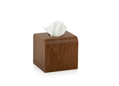 Fixing accessories - Walnut wood tissue box BA70010 - ANDREA HOUSE