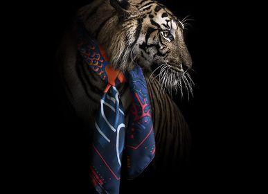 Scarves - LA DANSE N°5 ORIGINAL 90 - square/scarf printed 100% silk twill - 35,43 x 35,43 inch - French roll - Maison Fétiche - MAISON FÉTICHE