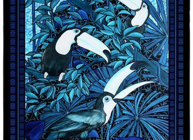 Clutches - MISCHIEVOUS - MEN'S POCKET SQUARES - printed 100% silk twill - 11.82 x 11.82 inch - flat hem - Maison Fétiche - MAISON FÉTICHE