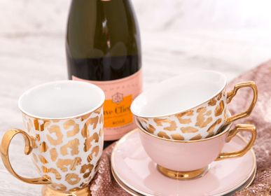 Tea / coffee accessories - Louis Leopard Teacup & Saucer - CRISTINA RE