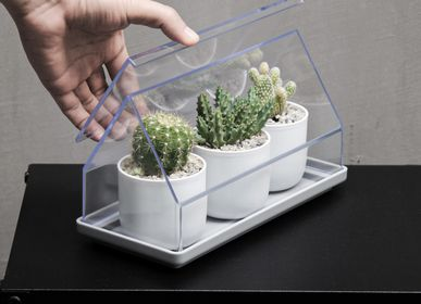 Furniture and storage - Micro Greenhouse Tray : Recycled Plastic Self Watering Plant Pot for indoor and outdoor garden - QUALY DESIGN OFFICIAL
