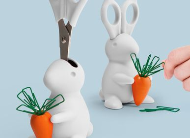 Party decorations - Rabbit Scissors and Clip Holder: Stationery Collection - QUALY DESIGN OFFICIAL