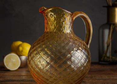 Carafes - Champagne color jug 2L with diamond pattern - CHEHOMA