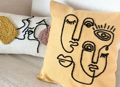 Cushions - Mistyk Cushion Mustard - LES LOVERS DECO