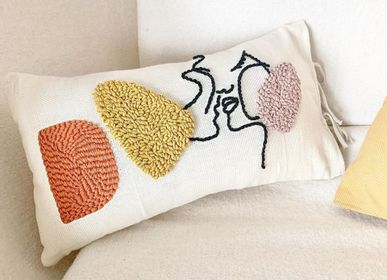 Cushions - Kiss Rectangular Cushion - LES LOVERS DECO