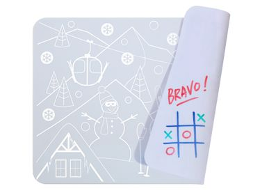Papeterie - Silicone Mini Playmat - SNOW reversible avec 4 feutres inclus - SUPERPETIT