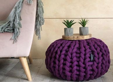 Cushions - Big cotton pouf, - PANAPUFA