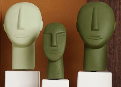 Sculptures / statuettes / miniatures - Cycladic Portraits statues - SOPHIA ENJOY THINKING