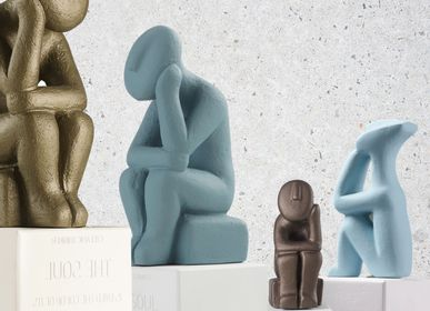 Sculptures / statuettes / miniatures - Cycladic Thinkers statues - SOPHIA ENJOY THINKING