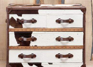 Chests of drawers - Medium chest brown cow - CHEHOMA