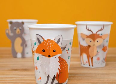 Birthdays - 6 Forest Animals Cups - Compostable - ANNIKIDS
