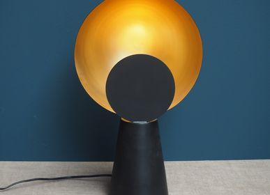 Desk lamps - Lamp Hide & seek black & gold metal - CHEHOMA