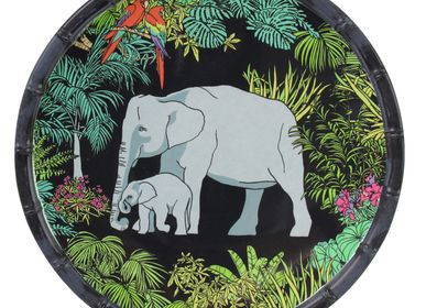 Platter and bowls - Jungle Collection in pure melamine - LES JARDINS DE LA COMTESSE