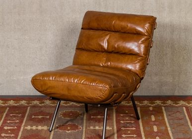 Armchairs - Leather armchair Spinal - CHEHOMA