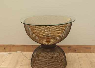 "Coffee tables - Side table ""Inlight"" with lamp inside - CHEHOMA"