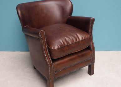 "Armchairs - Leather armstool ""Turner"" - CHEHOMA"
