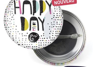 Ready-to-wear - Badge Les Parisiennes Happy Day - LES PARISIENNES D'EMILIE FIALA