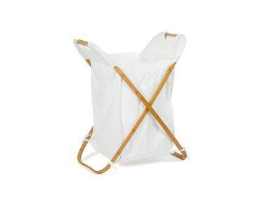 Laundry baskets - BA70151 Bamboo Folding Laundry Basket - ANDREA HOUSE