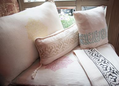 Cushions - HANDPRINTED CUSHION COVER CHIC ELEGANT DECORATIVE UNIQUE - LALAY