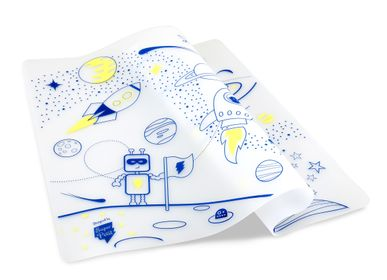 Gift - Silicone colouring table mat for kids included 5 markers- Into Space - SUPERPETIT