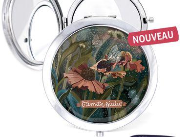Travel accessories / suitcase - Pocket mirror silver Les Parisiennes Helenium - LES PARISIENNES D'EMILIE FIALA
