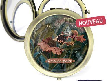 Travel accessories / suitcase - Pocket miror antique bronze Les Parisiennes Helenium - LES PARISIENNES D'EMILIE FIALA