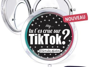 Travel accessories / suitcase - Pocket mirror silver Les Parisiennes TikTok - LES PARISIENNES D'EMILIE FIALA