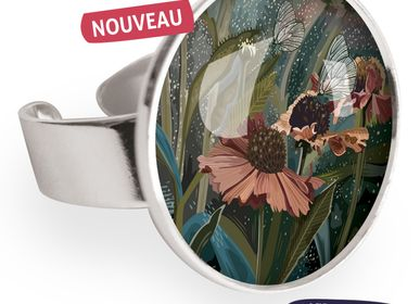 Jewelry - Big ring with all 925 silver finish Les Parisiennes Helenium - LES PARISIENNES D'EMILIE FIALA