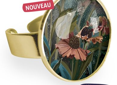 Jewelry - Big ring fully gilded with fine gold Les Parisiennes Helenium - LES PARISIENNES D'EMILIE FIALA