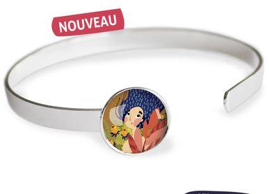 Bijoux - Bracelet Jonc finition argent 925 Les Parisiennes Automne - LES PARISIENNES D'EMILIE FIALA
