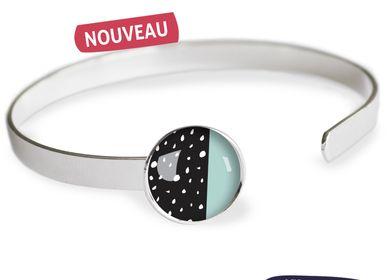Bijoux - Bracelet Jonc finition argent 925 Les Parisiennes Happy Day - LES PARISIENNES D'EMILIE FIALA