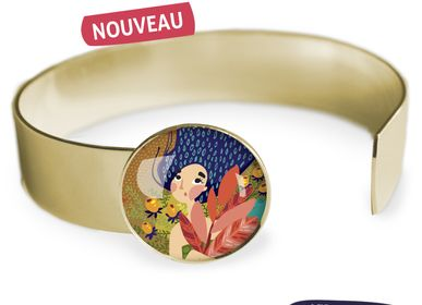 Jewelry - Medium bangle fully gilded with fine gold Les Parisiennes Automne - LES PARISIENNES D'EMILIE FIALA