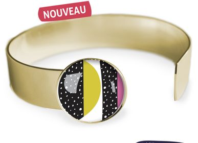 Jewelry - Medium bangle fully gilded with fine gold Les Parisiennes Happy Day - LES PARISIENNES D'EMILIE FIALA