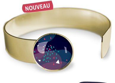 Jewelry - Medium bangle fully gilded with fine gold Les Parisiennes Vibrations - LES PARISIENNES D'EMILIE FIALA