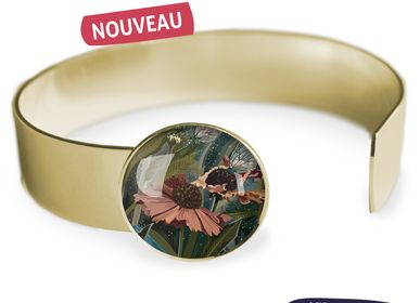 Jewelry - Medium bangle fully gilded with fine gold Les Parisiennes Helenium - LES PARISIENNES D'EMILIE FIALA