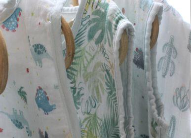 Vêtements de nuit - SLEEPING BAG BABY MUSLIN DINOSAUR MOTIF - PETIT ALO