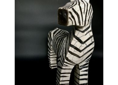 Sculpture - Khasmin - Zebra - FRENCH ARTS FACTORY