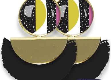 Bijoux - Boucles d'oreilles Pigalle finition dorée à l'or fin Les Parisiennes d'Emilie FIALA Happy Day - LES PARISIENNES D'EMILIE FIALA