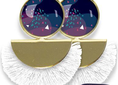 Bijoux - Boucles d'oreilles Pigalle finition dorée à l'or fin Les Parisiennes d'Emilie FIALA Vibrations - LES PARISIENNES D'EMILIE FIALA