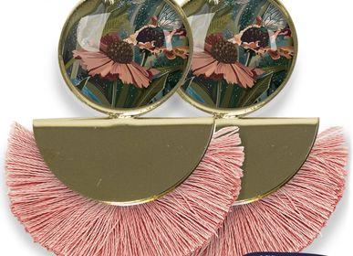 Bijoux - Boucles d'oreilles Pigalle finition dorée à l'or fin Les Parisiennes d'Emilie FIALA Helenium - LES PARISIENNES D'EMILIE FIALA