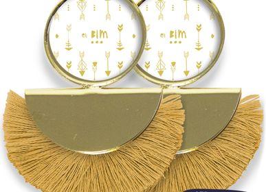 Bijoux - Boucles d'oreilles Pigalle finition dorée à l'or fin Les Parisiennes d'Emilie FIALA Bim - LES PARISIENNES D'EMILIE FIALA