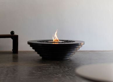 Outdoor fireplaces - Stepped fire table - JAMES DEWULF, LLC