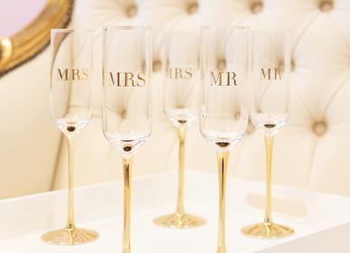 Gifts - Mr & Mrs Champagne Flutes - Set of 2 - CRISTINA RE