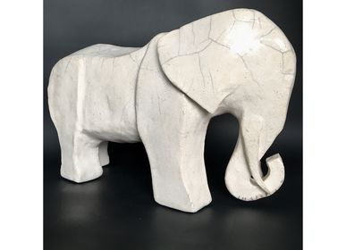 Sculptures, statuettes and miniatures - Kona - Elephant Sculpture  - FRENCH ARTS FACTORY
