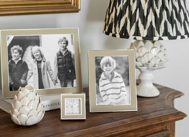 Decorative objects - Sand Shagreen & Silver Frame  - ADDISON ROSS