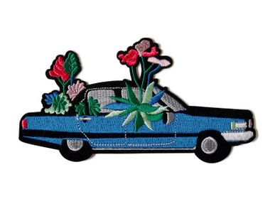 Jewelry - Large patch - Cadillac in flower - MACON & LESQUOY