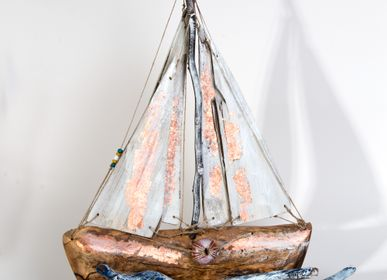 Decorative objects - Aegean | Boat from olive wood - PITEROS DIMITRIS