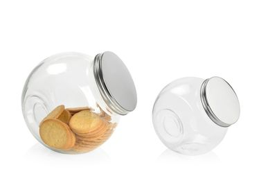 Kitchen utensils - Glass and Metal Lid Box CC70097  - ANDREA HOUSE